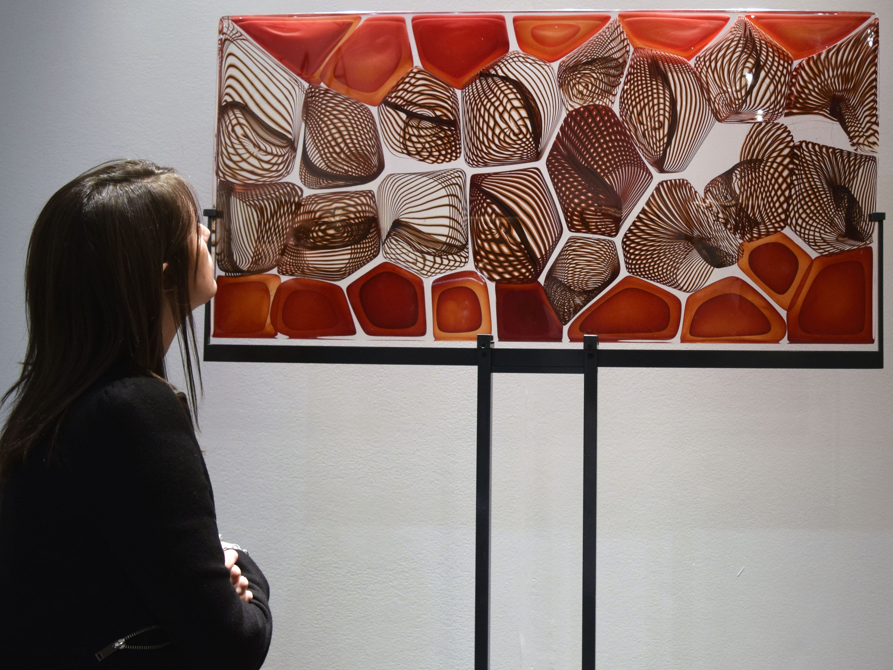 Admiring The Coral Reef Fused Glass By Lino Tagliapietra.